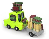 Car towing trailer, holiday or moving - one of a series of automotive.