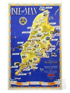 Isle of Man, British Rail, c.1955 Giclee Print at Art.com
