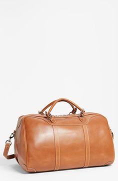 Men's Mulholland 'Hippo' Leather Duffel Bag