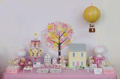 Mesa de bolo com balão