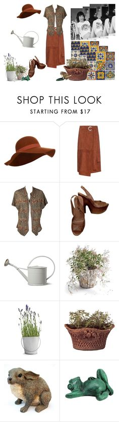 """""""Tending the Garden"""" by queenofthenineteen-seventies ❤ liked on Polyvore featuring Accessorize, TIBI, Alice + Olivia, Garden Trading, Potting Shed Creations, Thos. Baker, Hearts Attic, garden, Flowers and Home"""