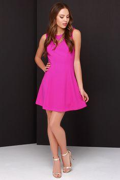 Framed Dame Magenta Dress at Lulus.com!