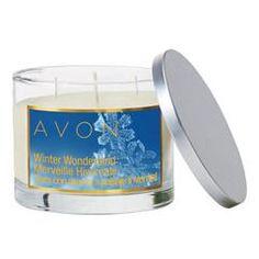 Avon Holiday Winter Wonderland Scented Candle www.youravon.com/acem