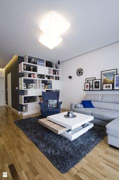 MIESZKANIE 74M² – ZIELONY ŻOLIBORZ - Mały salon, styl nowoczesny - zdjęcie od Devangari Design