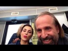 Peter Stormare & Noomi Rapace on set