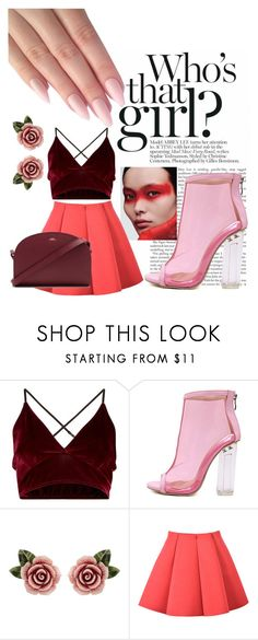 """""""who's that girl?"""" by gabriellavanda on Polyvore featuring WithChic, Dolce&Gabbana and A.P.C."""