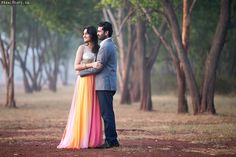 Pre-wedding shoot held in a rustic location - weddingz.in | India's Largest Wedding Company | Wedding Venues, Vendors and Inspiration | Indian Wedding Bridal Jewellery Ideas |