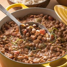 Pinto beans and sausage. Excellent. Love with the smokey paprika.