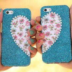 iLovetoCreate®  Best Friends Phone Cases #glitter #craft