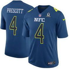 9cc970620 Nike Cowboys Dak Prescott Navy Men s Stitched NFL Game NFC 2017 Pro Bowl Jersey  And jerseys best selling