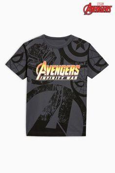 Charcoal Avengers Infinity War T-Shirt (3-16yrs)
