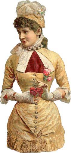 Wings of Whimsy: Victorian Scaps - Glove Lady 2 #vintage #ephemera #printable #freebie #scrap