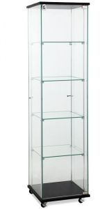 This glass showcase tower display is one of the best store fixtures for a small business, it features 5 levels of product display space in a very small footprint. Glass Shelves, Display Shelves, Shelving, Display Cases, Glass Cabinets, Showcase Cabinet, Glass Showcase, Crockery Cabinet, Pharmacy Design