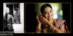 S. Indian Bride getting ready in South Indian Wedding Photos in NJ by PhotosMadeEz with Cinderella Brides.  Best Wedding Photographer PhotosMadeEz Award winning Photographer Mou Mukherjee