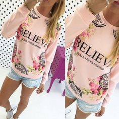 🎈SALE🎈Believe pink sweater BRand new Blue Pearl Boutique Sweaters