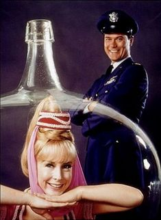 Barbara Eden and Larry Hagman in 'I Dream of Jeannie'.