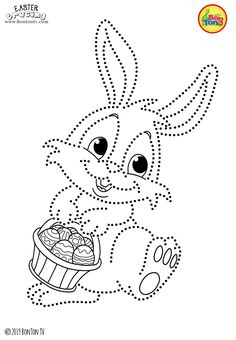 Easter Tracing and Coloring Pages for Kids - Free Preschool Printables and Worksheets, Fine Motor Skills Practice - Easter bunny, eggs, chicks and more on BonTon TV - Coloring books Easter Coloring Pages, Coloring Sheets For Kids, Adult Coloring Book Pages, Disney Coloring Pages, Colouring Pages, Coloring Books, Free Coloring, Yarn Crafts For Kids, Easy Easter Crafts