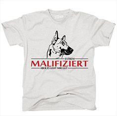 Siviwonder Unisex T-Shirt Malinois Hund Infiziert ash - schwarz S Siviwonder  http:/