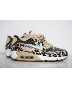 huge discount dd023 ac64d Womens Nike Air Max 90 Brown Leopard Paint Trainer Nike Air Max For Women,  Nike
