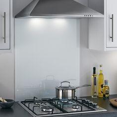 Clear Toughened Heat Resistant Glass Splashback with Pre-Drilled Holes & Screws Glass Kitchen, Kitchen Tiles, Green Kitchen, Cheap Kitchen, Kitchen Paint, Kitchen Redo, Hob Splashback, Coloured Glass Splashbacks, Fitted Bathroom Furniture