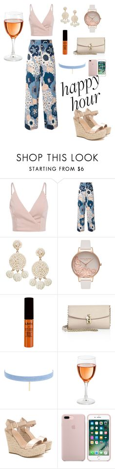 """""""happiest hour"""" by love-theone ❤ liked on Polyvore featuring Chloé, Humble Chic, Olivia Burton, NYX, Dolce&Gabbana and Jules Smith"""