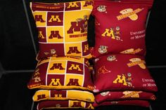 MINNESOTA GOPHERS Cornhole Bags 8 Corn Hole Bean Bags ACA