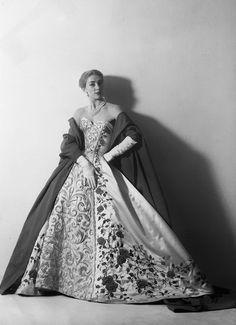 Pierre Balmain 50s evening gown
