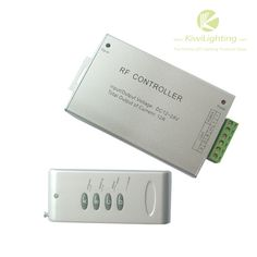 RF LED Controller - DC 5v/6v/12v/24v 3 Channel 4A/Ch -     RF LED Controller, Input DC5V, 12V, 18V, 24V, Output 3 channels, 4A/Ch Common anode/cathode,                                                              $14.99    Buy at KiwiLighting.com: RF LED Controller – DC 5v/6v/12v/24v 3 Channel 4A/Ch