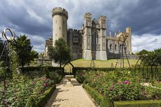 Arundel castle gardens Arundel West Sussex England  www.alamy.com/image-details-popup.asp?ARef=FRX7FY  #castle #arundel #sussex #medieval #england #landmark #architecture #stronghold #west #keep #fortress #sky #historic #stone #britain #town #uk #battlement #heritage #green #tower #history #british #english #fort #fortification #wall #defence #great #garden