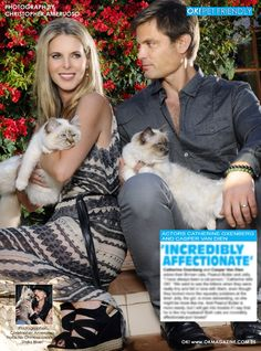 My OK! Pets feature in OK! magazine this week I feature Catherine Oxenberg and her husband Casper Van Dien with their two cats. Pick up a copy on stands today!