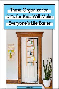 Easy Kid Organization DIY Ideas #organization #organized #home #homedecor #kidsbedroom