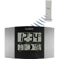 La Crosse Technology WS8117UITAL Atomic Clock with Remote Temperature ** Check out this great product. (Note:Amazon affiliate link)
