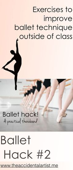 Foot exercises will help your tendu and much more! Practical exercises with a small theraband.