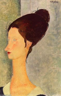 'Jeanne Hébuterne', öl auf leinwand von Amedeo Modigliani (1884-1920, Italy)