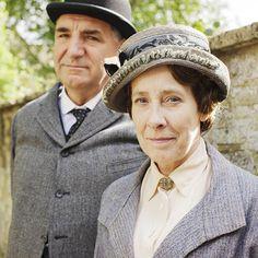 #DowntonAbbey season 5: Carson and Mrs. Hughes || http://oztvreviews.com/2015/02/downton-abbey-is-back/