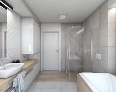 (Dom w okolicy Lublińca) Dom jednorodzinny 7 - Duża łazienka, styl nowoczesny - zdjęcie od BAGUA Pracownia Architektury Wnętrz