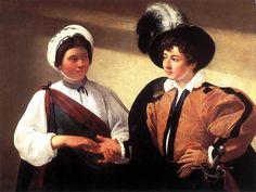 "Artinvest2000, Caravaggio:  ""Buona ventura"" ""The Fortune Teller"" 1596-97 Oil on canvas, 99 x 131 cm. Musée du Louvre, Paris."