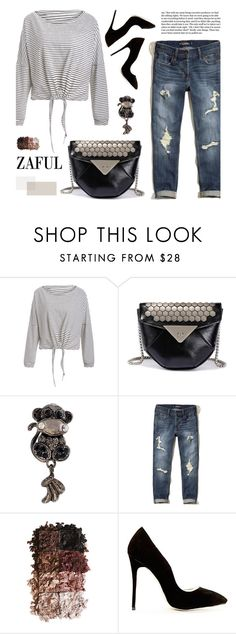 """""""Zaful 15"""" by merima-kopic ❤ liked on Polyvore featuring Hollister Co., LORAC and zaful"""