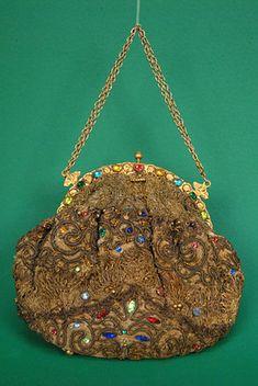 Jeweled Gold Boullion Evening Bag, 1920