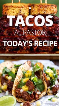 Al Pastor Pork Recipe, Al Pastor Recipe Slow Cooker, Authentic Taco Recipe, Authentic Mexican Tacos, Leftover Pork Loin Recipes, Mexican Dinner Recipes, Mexican Desserts, Mexican Cooking, Taquitos Al Pastor