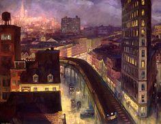 John Sloan (1871–1951), The City from Greenwich Village, 1922
