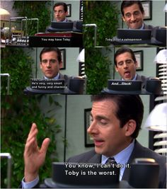 The Office- Michael Scott Best Of The Office, The Office Show, Toby The Office, Parks N Rec, Parks And Recreation, Best Tv Shows, Best Shows Ever, Tv Show Quotes, Movie Quotes