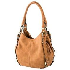 Women's Solid Hobo Faux Leather Handbag with Buckle Detail Black - Merona™ : Target