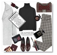 """Styling a plaid pant."" by gul07 ❤ liked on Polyvore featuring MANGO, Jil Sander, Chanel, Bobbi Brown Cosmetics, Kevyn Aucoin, Anastasia Beverly Hills, Urban Decay and NARS Cosmetics"