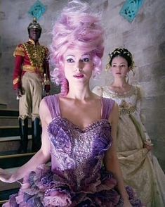 Moments later Sugar Plum led Clara down a staircase. She explained they had all been toys before Marie gave them life. The Nutcracker and the Four Realms Live Action Movie, Action Movies, Keira Knightley, Disney S, Disney Movies, Nutcracker Costumes, Mackenzie Foy, Sugar Plum Fairy, Disney Artwork