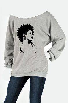 Afro Natural Ode To Beauty Sweatshirt by NewTribeNewTradition