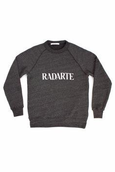 Opening Ceremony Exclusive Rodarte  Radarte Sweatshirt Charcoal & White Text  $155.00