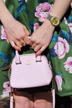 Kate Spade Mini Maise. This color matches my new scarf!
