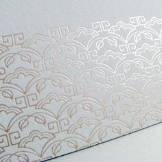 Luxury wedding invitations Art Deco foil stamp by DigbyRose
