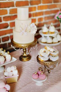 Elegant, Sparkly & Romantic Dessert Table styled by Best Friends For Frosting